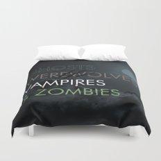 Ghosts, Werewolves, Vampires & Zombies Duvet Cover