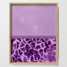 Purple Lovers Giraffe Print and Digital Faux Leather Serving Tray