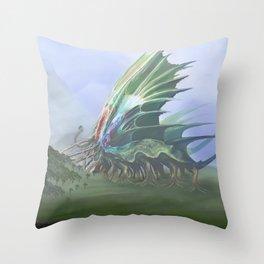 Giant Tree Devourer Throw Pillow