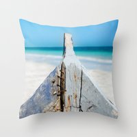 andreas preis Throw Pillows featuring CONTRAST by Catspaws
