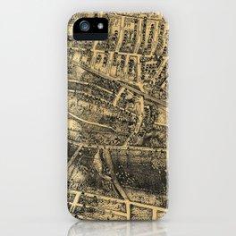 Vintage Map of Maplewood NJ (1910) iPhone Case