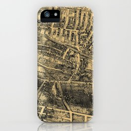 Vintage Map of Maplewood NJ (1910) iPhone Case