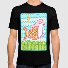 Mernicorn Black MEDIUM Mens Fitted Tee