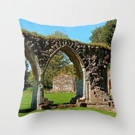 Hailes Abbey ruins. Throw Pillow