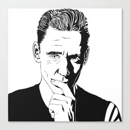 Tom Hiddleston in black and white Canvas Print
