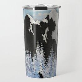 Cross Country Skiing Travel Mug