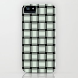 Pastel Green Weave iPhone Case