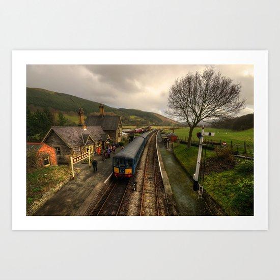 The Railway Station at Carrog  Art Print