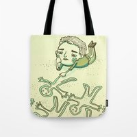 lonely Tote Bags featuring Lonely by Emily Joan Campbell