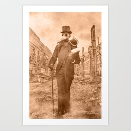 Dark Victorian Portrait: The Good Doctor Art Print