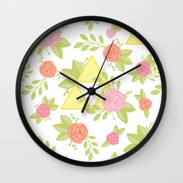 Garden of Power, Wisdom, and Courage Pattern Wall Clock