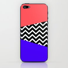 Infra Red Laser Blue Chevron iPhone iPhone & iPod Skin