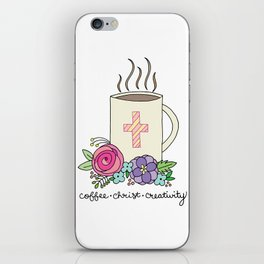 Coffee, Christ & Creativity iPhone Skin