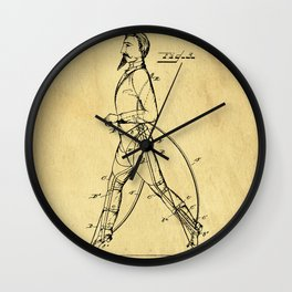 Old Patent Drawing Wall Clock