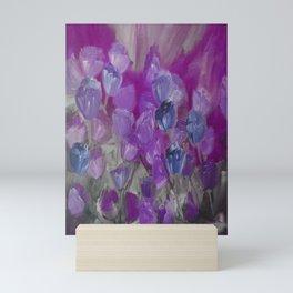Violet Flower Garden Abstract Mini Art Print