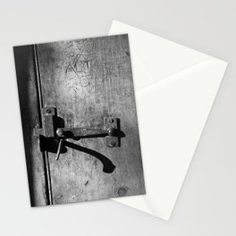 Black and White Antique Wooden Door, Circa 1840 Stationery Cards