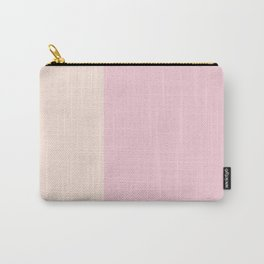 pink simple, stripes, minimalist, minimal, chic Carry-All Pouch