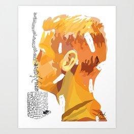 Letter 1 (Dear Haircutting Kit) Art Print