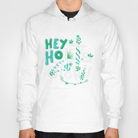 ramones Hoodies featuring Hey ho ! Let's grow ! by Felix Rousseau