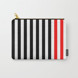 black, white and red stripes Carry-All Pouch
