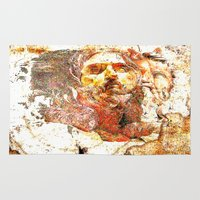 christ Area & Throw Rugs featuring Transfiguration of Christ  by Ganech joe