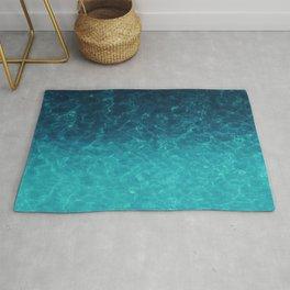 Tropical Water Pattern, Turquoise Ocean Water Rug