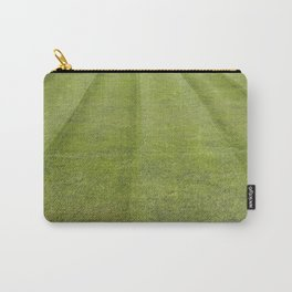 green soccer pitch on sunny day Carry-All Pouch