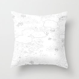 land of 15 towns and a cemetary Throw Pillow
