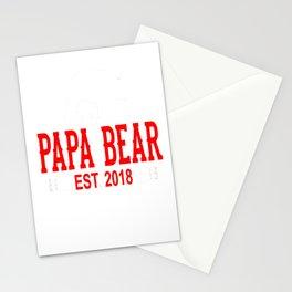 Papa Bear Est 2018 Stationery Cards