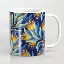 Pohutukawa - Yellow / Blue Coffee Mug