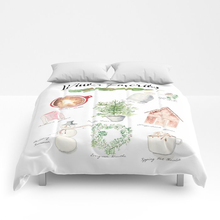 Winter Favorites in Watercolor Comforters