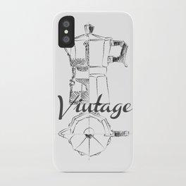 Coffee pot blueprint sketch  iPhone Case
