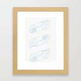 holding hands Framed Art Print
