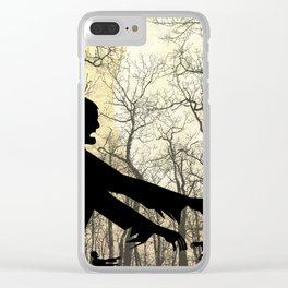 Zombies by Moonlight Clear iPhone Case