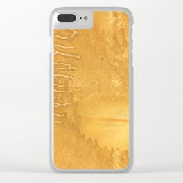 Sandy brown clouded watercolor Clear iPhone Case