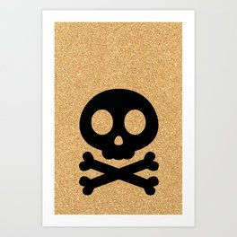 cork paper skelton Art Print