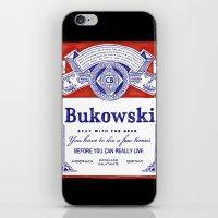 bukowski iPhone & iPod Skins featuring bukowski by Mathiole