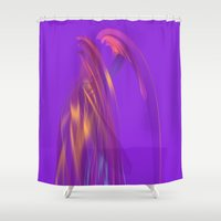 angel Shower Curtains featuring Angel by tuditees