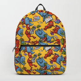 Monsters reading Backpack