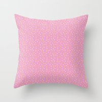 sprinkles Throw Pillows featuring Sprinkles by Diana Willett
