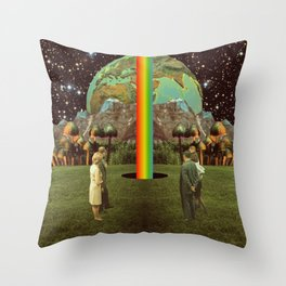 Discovering the Source Throw Pillow