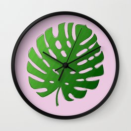 Palm Tree Leaf Art Print Wall Clock