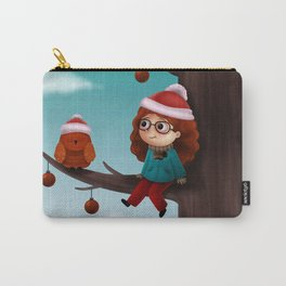 Girl in a tree Carry-All Pouch