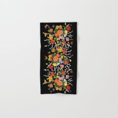 Black Butterfly Bouquet  Hand & Bath Towel