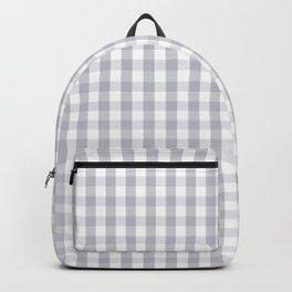 Grey Harbour Mist Gingham Tartan 2018 London Fashion Color Backpack
