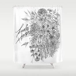 Leaf Illustration Shower Curtain