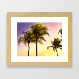 PURPLE AND GOLD SKIES 3 Framed Art Print
