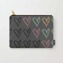 Hearts Hearts Hearts Carry-All Pouch