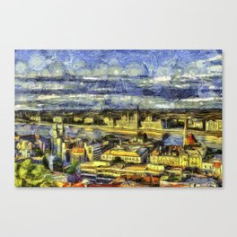 Budapest Vincent Van Gogh Canvas Print