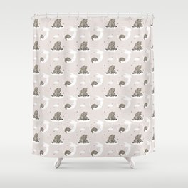 Moonlight teddy bear Shower Curtain